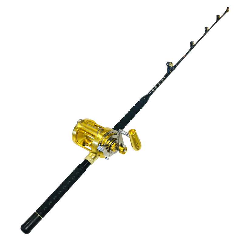 50 Wide 2 Speed Reel on a 60-80 lb. Blue Marlin Tournament Rod, Rod & Reel Combos - Eat My Tackle