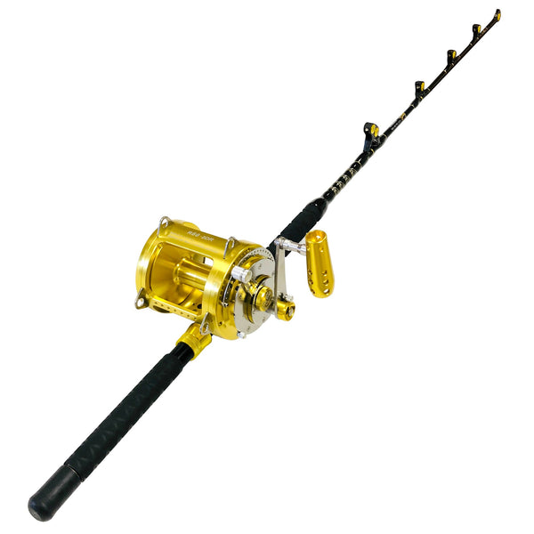 80 Wide 2 Speed Reel on a Blue Marlin Tournament Edition Straight Rod, Rod & Reel Combos - Eat My Tackle