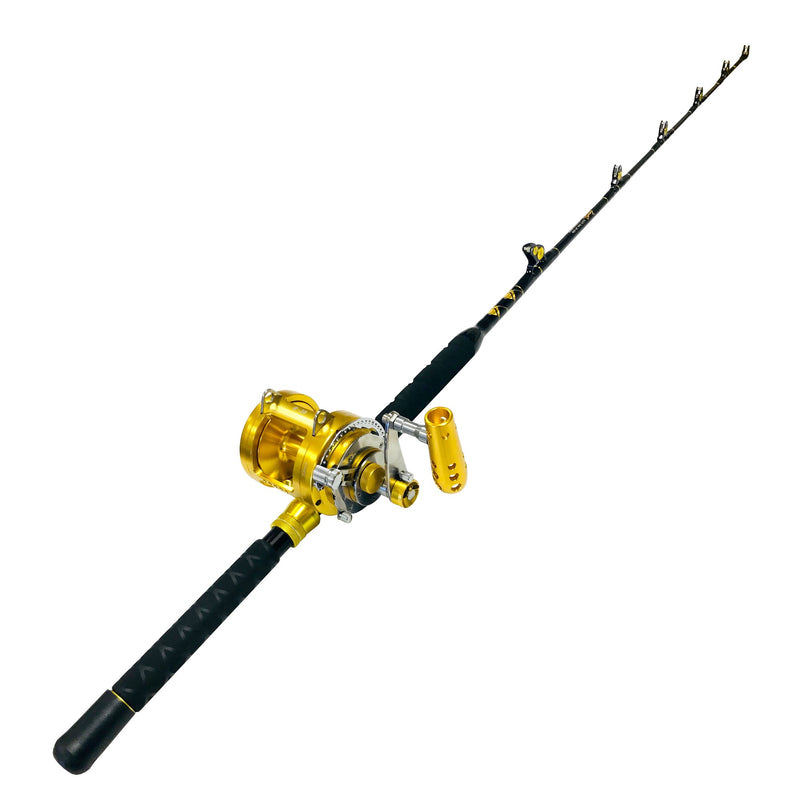 30 Wide 2 Speed Reel on a 30-50 lb. Tournament Edition Fishing Rod, Rod & Reel Combos - Eat My Tackle