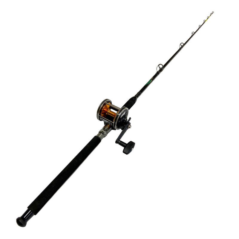 Conventional Star Drag Boat Reel H346 on a 30-40 lb. 7ft. Pier Pro Rod,  - Eat My Tackle