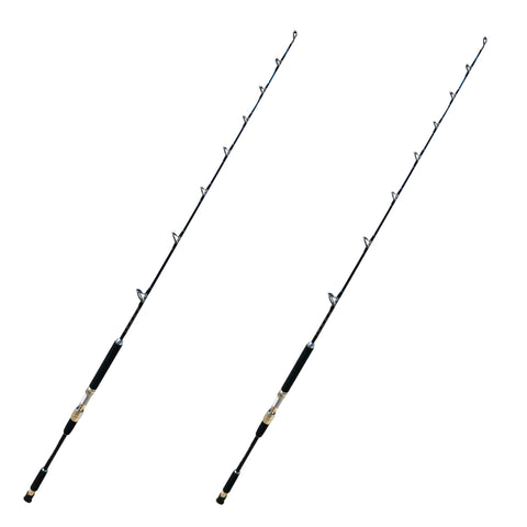 60-80 lb. All Roller Guide Fishing Rods - Big Game Boat Poles - 4 Pack