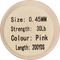 Pink Fluorocarbon Fishing Leader - 200 Yards | 10, 20, 30, or 55 lbs., Fishing Tackle - Eat My Tackle