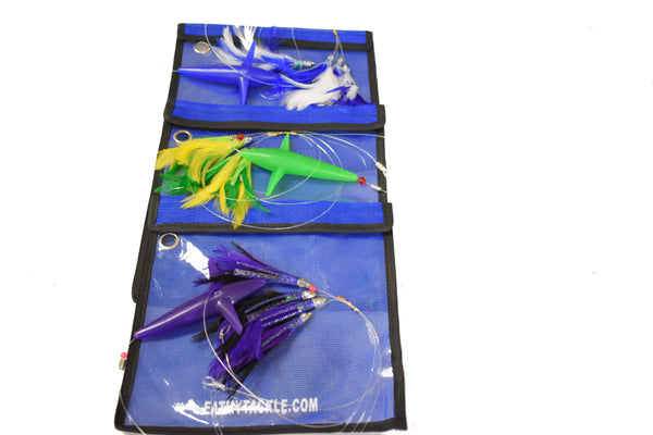 "3 Feather Jig Daisy Chains With ""Birds"" and Fully Rigged, Fishing Lures - Eat My Tackle"