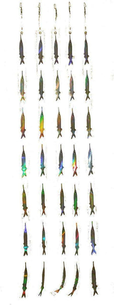 Ballyhoo Teaser Strips - 7 Reflective Bait Fish Teasers (5 Pack), Fishing Tackle - Eat My Tackle