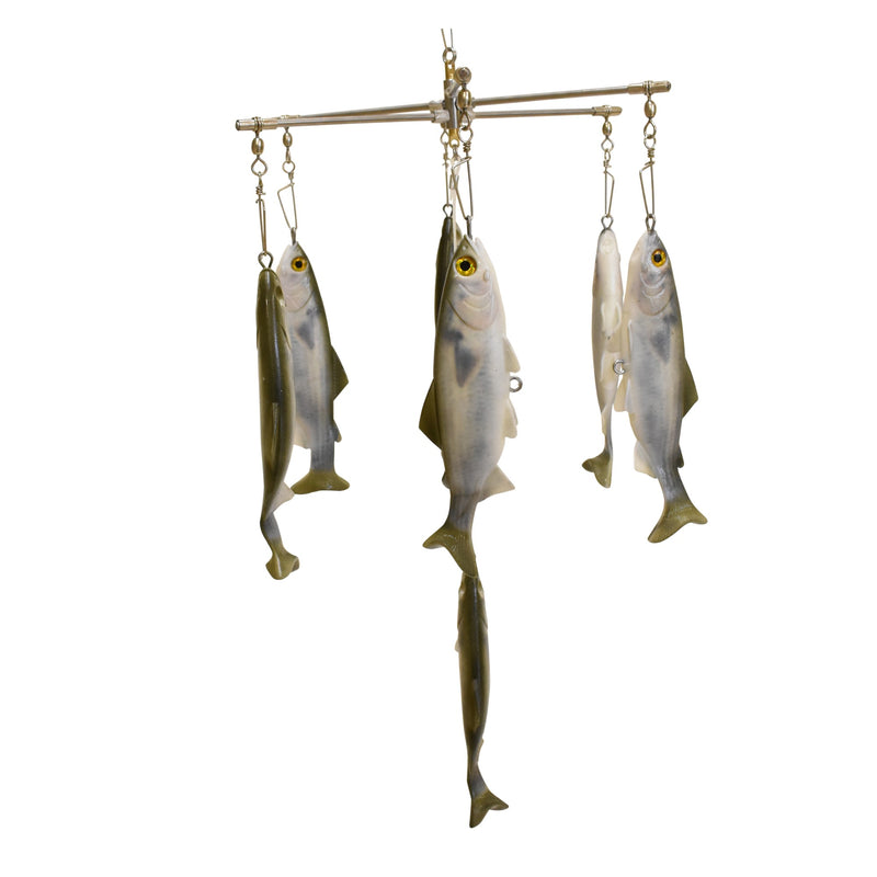 Mullet Double Dredge Fishing Teaser - (19) 8 in. Lifelike Fish, Dredges - Eat My Tackle