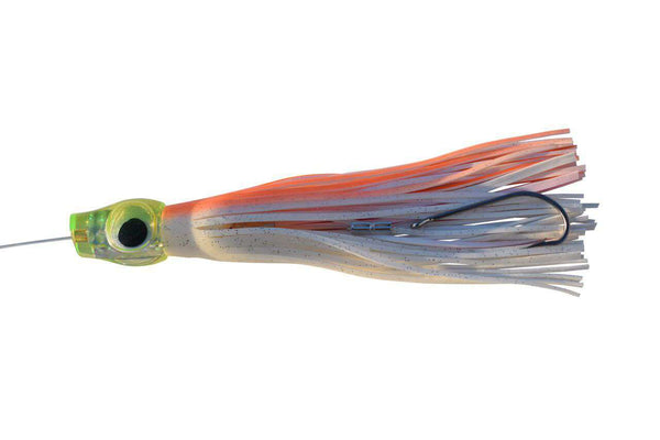 "10"" Big Eye Pink, Orange, & White Fully Rigged Fishing Lure, Fishing Lures - Eat My Tackle"