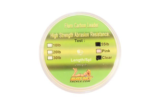 55 lb. Clear Fluorocarbon Fishing Line 200 Yard Spool, Fishing Tackle - Eat My Tackle