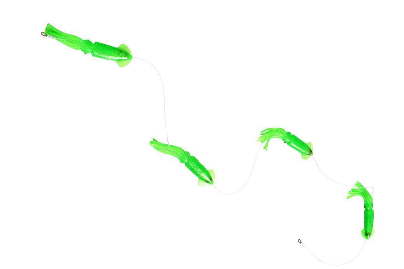 Squid Daisy Chain Teaser - 9 in. Squids - Included Lure Bag, Fishing Lures - Eat My Tackle