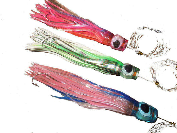 "3 Fully Rigged 8"" Billfish Saltwater Fishing Lures, Fishing Lures - Eat My Tackle"