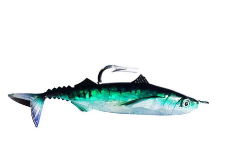 "10"" Green Sardine Soft Natural Bait Rigged Fishing Lure, Fishing Lures - Eat My Tackle"