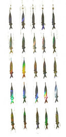 Ballyhoo Teaser Strips - 5 Reflective Bait Fish Teasers (5 Pack), Dredges - Eat My Tackle