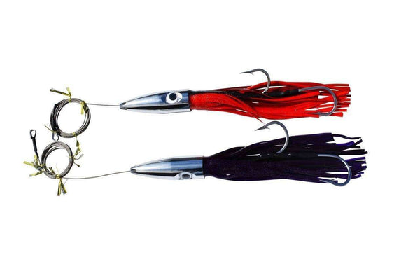 2 Wahoo 5 Jet Bullet Head Cable Rigged Fishing Lures, Fishing Lures - Eat My Tackle
