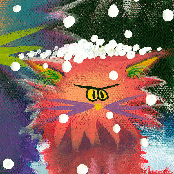 detail Cranky Cats in a Snow Storm - Cranky Cat Collection™ by Cindy Schmidt