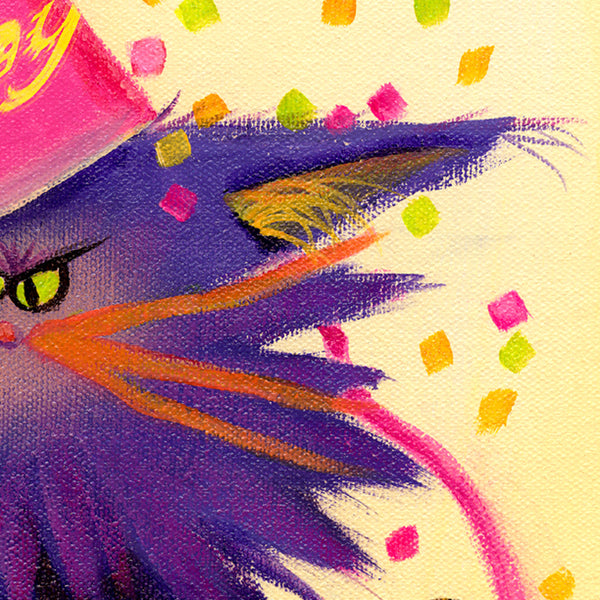 Happy Birthday, detail - Cranky Cat Collection by Cindy Schmidt