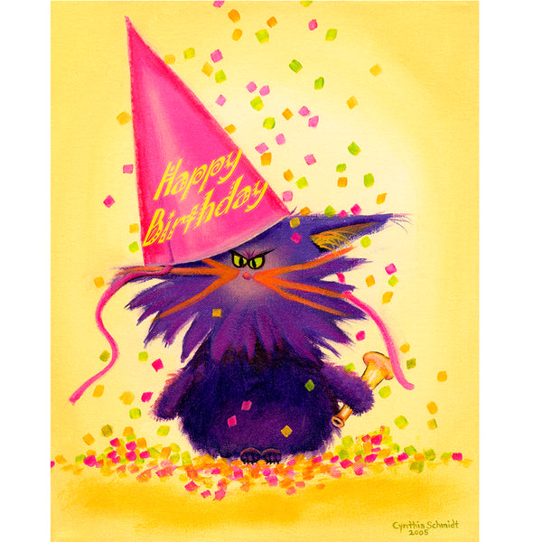 Birthday Cranky Cat by Cindy Schmidt