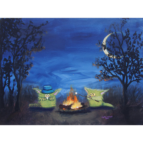Campfire Kitties - Cranky Cat Collection™ by Cindy Schmidt