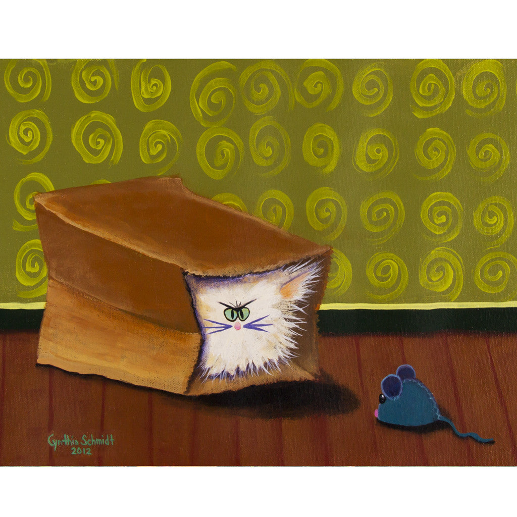 Cat In a Bag - Cranky Cats Collection by Cindy Schmidt