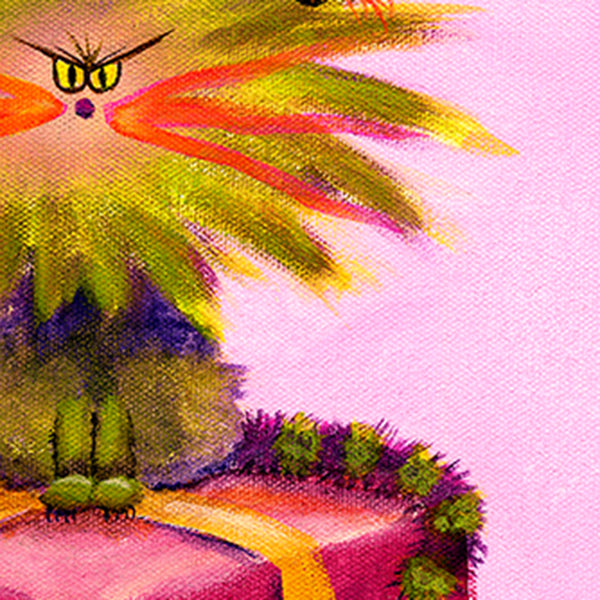 Christmas cranky cat, detail, by cindy schmidt