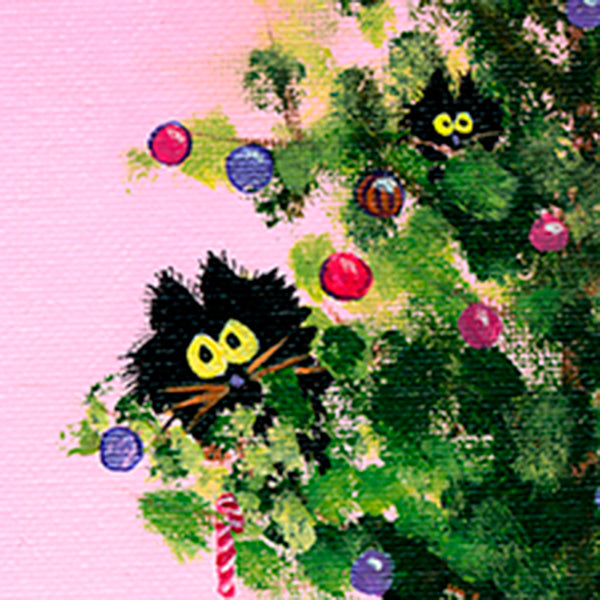 detail Christmas Tree Kitties - Cranky Cat Collection™ by Cindy Schmidt