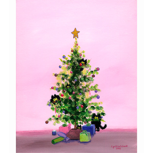 Christmas Tree Kitties - Cranky Cat Collection™ by Cindy Schmidt