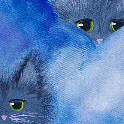 detail Cloud Kitties - Cranky Cat Collection™ by Cindy Schmidt