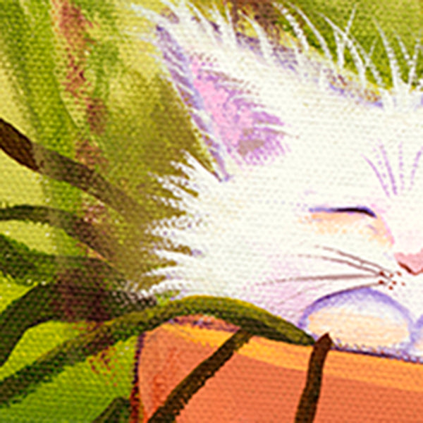 Flower Pot Kitty - Cranky Cat Collection™ by Cindy Schmidt