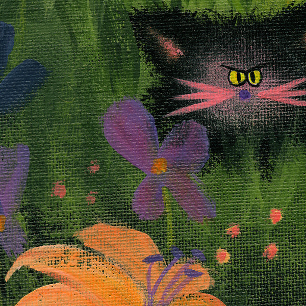 Detail, Herd of Kitties - Cranky Cat Collection by Cindy Schmidt