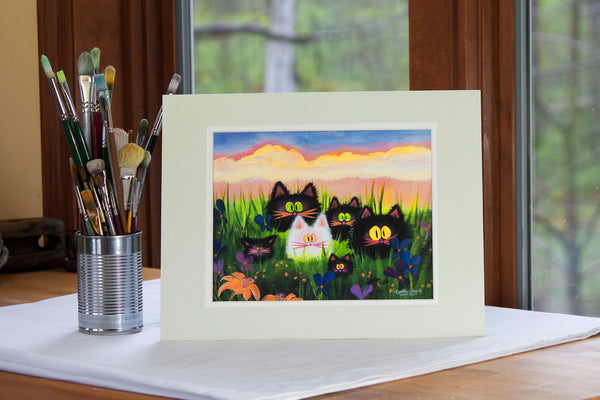 Herd of Kitties - Cranky Cat Collection by Cindy Schmidt