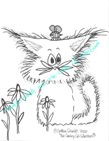 Just The Cats, Please. 10 Cranky Cats Coloring Sheets