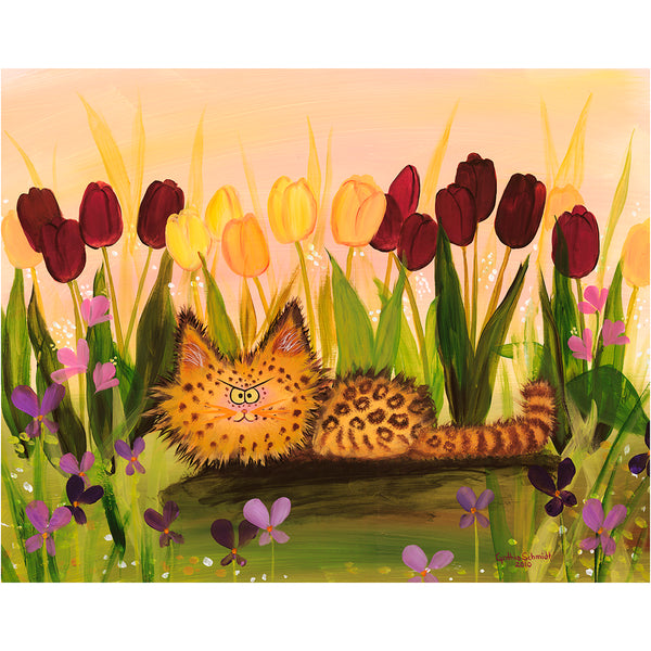 Leopard Kitty — Cranky Cat Collection™ by Cindy Schmidt