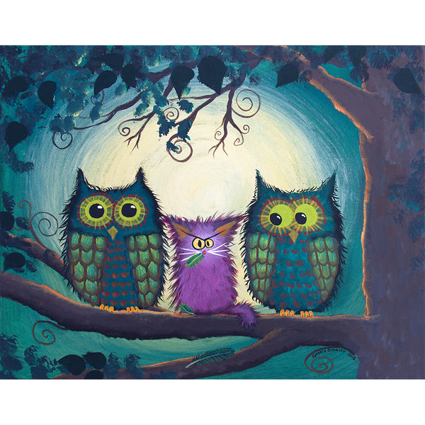 Nervous Owls - Cranky Cats Collection™ by Cindy Schmidt