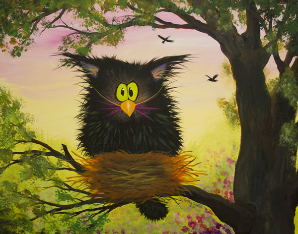 Raised By Crows - The Cranky Cat Collection™ by Cindy Schmidt