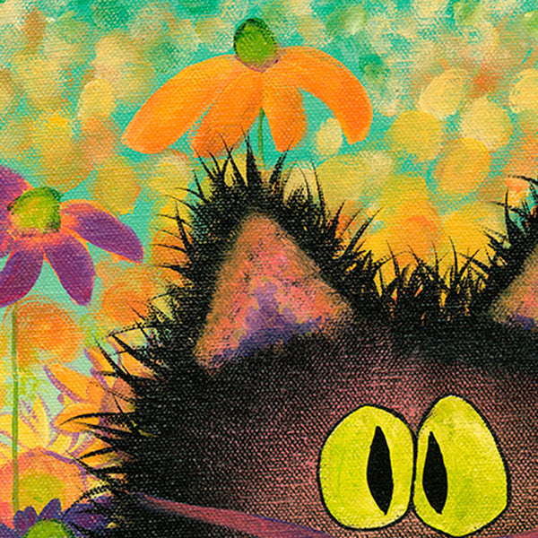 Scaredy Cat in Daisies - Cranky Cat Collection™ by Cindy Schmidt