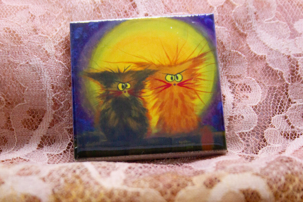 Scraggly Moon Cats - Magnet