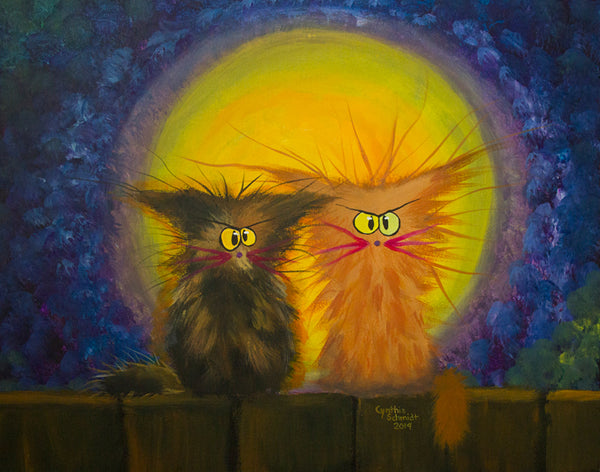 Scraggly Moon Cats - Cranky Cat Collection™ from Cindy Schmidt