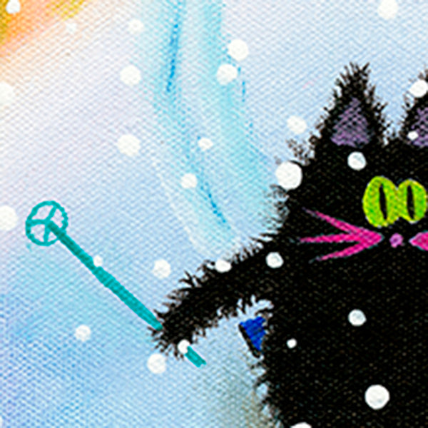 Skiing Scaredy Cat - Cranky Cat Collection™ by Cindy Schmidt