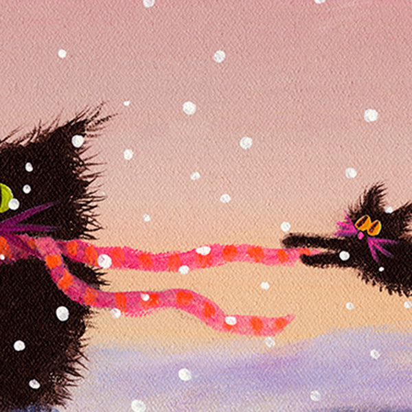 detail Snow Cats in the Wind - Cranky Cat Collection™ by Cindy Schmidt