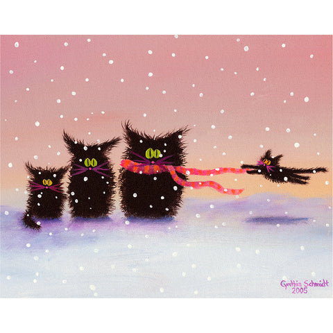 Snow Cats in the Wind - Cranky Cat Collection™ by Cindy Schmidt