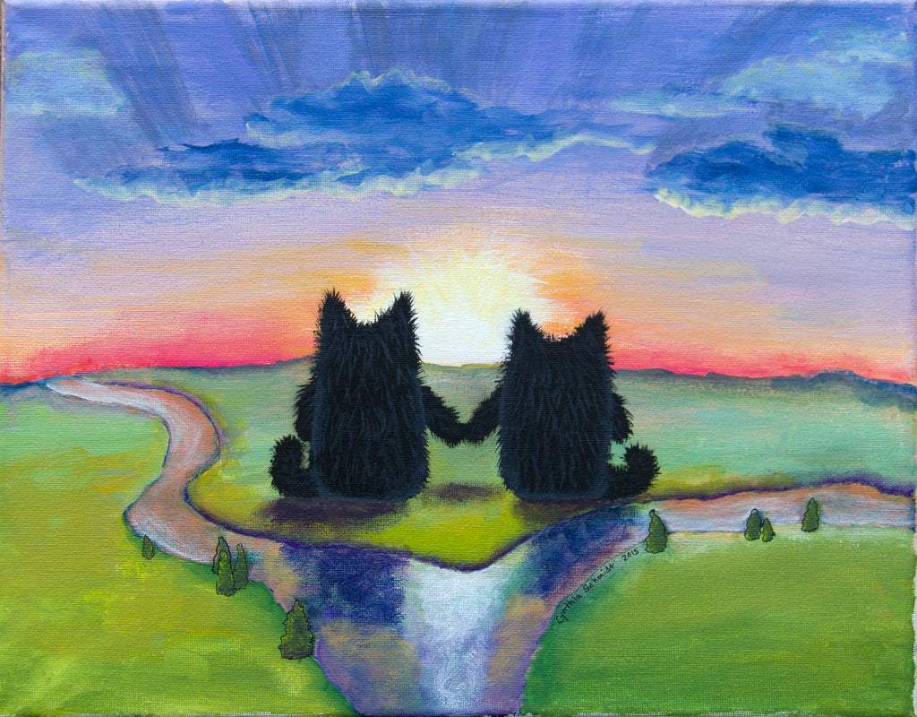 Sunset Buddies  — Matted Print