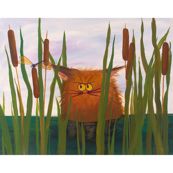 Swamp Cat - Cranky Cat Collection™ by Cindy Schmidt
