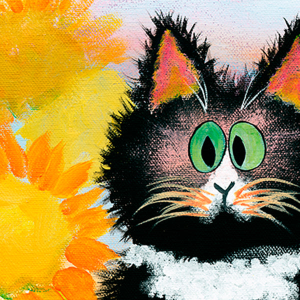 detail Tuxedo Cat - Cranky Cat Collection™ by Cindy Schmidt