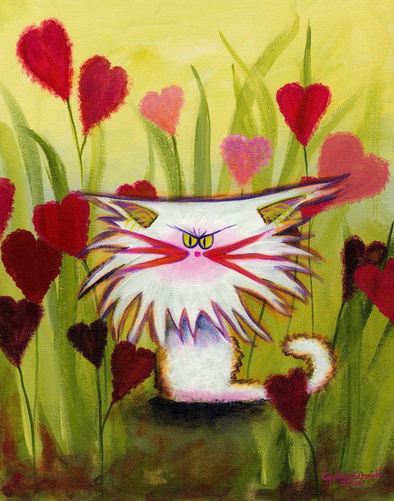 Valentine Kitty — Note Card