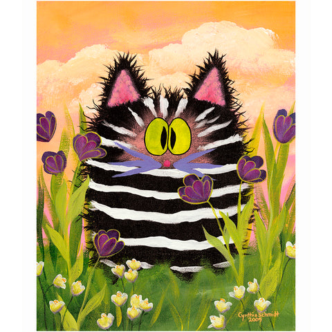 Zebra Kitty - Cranky Cat Collection™ by Cindy Schmidt
