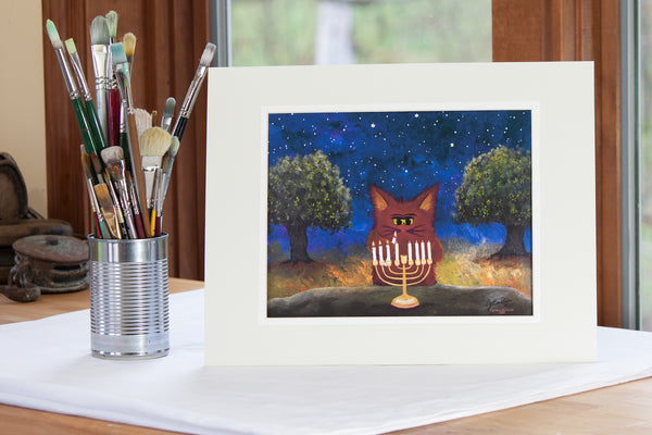 Hannukah Kitty — Cranky Cats Collection™ by Cindy Schmidt