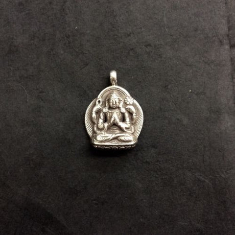 Avalokitesvara Chenrezig Compassion Sterling Silver 925 Pendant Made in Nepal
