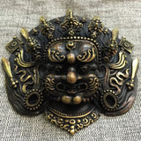 Brass DRAGON Mask Tibetan Buddhist Bronze Handcrafted from Nepal Very Detailed