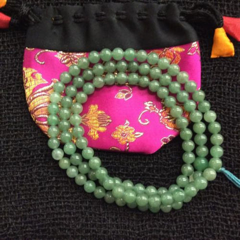 Authentic Jade Tibetan Buddhist 108 Prayer Mala Rosary Necklace 35 INCHES LONG