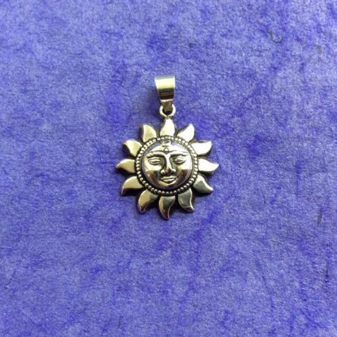 Surya Sun Sungod Sterling Silver 925 Pendant Made in Nepal