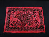 OM AUM MANDALA TAPESTRY BED SHEET BED SPREAD WALLHANGING COTTON 82 x 54 RED