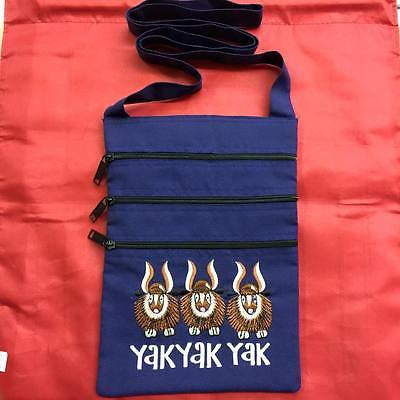 Travel YAK YAK YAK Zippered Bag Pouch BLUE